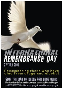 The poster utilised in the UK to raise awareness of the day, the dove theme is one that we hope may be picked up globally as a symbol for the day