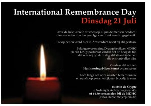 The flyer for the Remembrance Day in Amsterdam this year