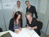 Jude Byrne Chair of INPUD signs Memorandum of Understanding with GNP+