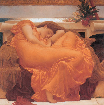 Flaming June: By Fredrick, Lord Leighton, 1830-1896